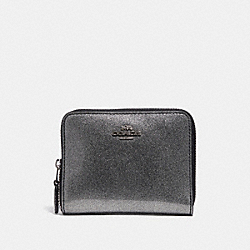 COACH F29950 Small Zip Around Wallet SILVER/SILVER MULTI