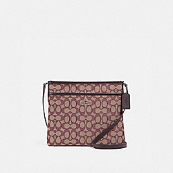 FILE CROSSBODY IN SIGNATURE JACQUARD - F29960 - SV/RASPBERRY