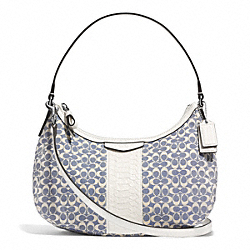 COACH F29961 Signature Stripe Jacquard Demi Crossbody