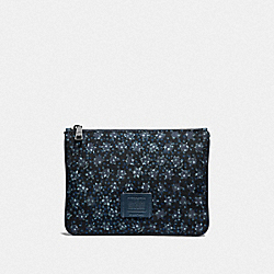 MULTIFUNCTIONAL POUCH WITH OMBRE STAR PRINT - F29973 - BLACK/NAVY