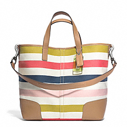 COACH F30041 - HADLEY MULTISTRIPE DUFFLE ONE-COLOR