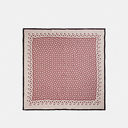 COACH F30067 Signature Silk Square Scarf VINTAGE PINK