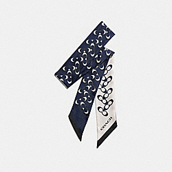 COACH F30068 - SIGNATURE SKINNY SCARF MIDNIGHT NAVY