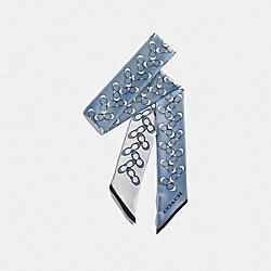 COACH F30068 Signature Silk Skinny Scarf CORNFLOWER