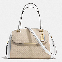 COACH F30094 Madison Art Needlepoint Fabric Georgie Satchel LIGHT GOLD/LIGHT GOLDGHT KHAKI/WHITE