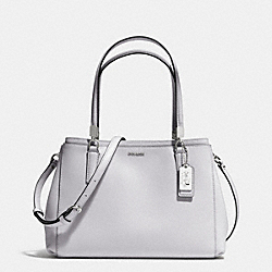 COACH F30128 - MADISON SMALL CHRISTIE CARRYALL IN SAFFIANO LEATHER  SILVER/SOAPSTONE