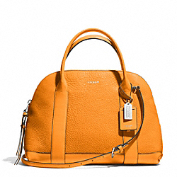 COACH F30144 - BLEECKER PRESTON SATCHEL IN PEBBLE LEATHER  SILVER/BRIGHT MANDARIN