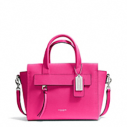 COACH F30146 - BLEECKER SAFFIANO LEATHER MINI RILEY CARRYALL SILVER/PINK RUBY