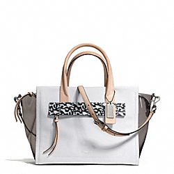 COACH F30161 - BLEECKER RILEY CARRYALL IN MIXED MEDIA  SILVER/SMOKE