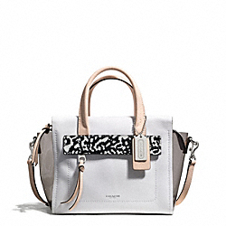 COACH F30163 - BLEECKER MINI RILEY CARRYALL IN MIXED MEDIA  SILVER/SMOKE