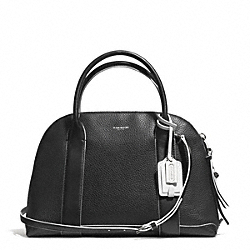 COACH F30165 Bleecker Edgepaint Leather Preston Satchel SILVER/BLACK/WHITE