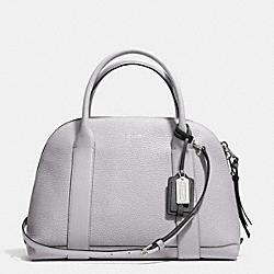 COACH F30165 Bleecker Edgepaint Leather Preston Satchel SILVER/SOAPSTONE/CHARCOAL