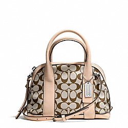 COACH F30167 - BLEECKER MINI PRESTON SATCHEL IN PRINTED SIGNATURE  SILVER/LT KHA MADEIRA/VCH