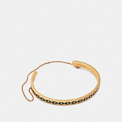 COACH F30191 - SIGNATURE CHAIN CUFF GD/DENIM