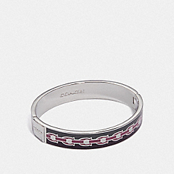 SIGNATURE CHAIN HINGED BANGLE - F30193 - SV/PLUM MULTI