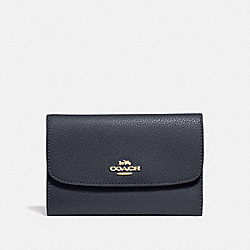 COACH F30204 Medium Envelope Wallet MIDNIGHT/LIGHT GOLD