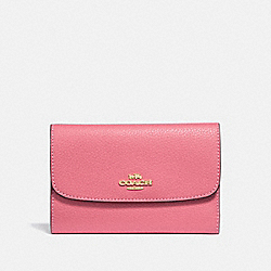 COACH F30204 Medium Envelope Wallet PEONY/LIGHT GOLD