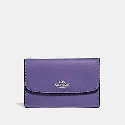 COACH F30204 Medium Envelope Wallet LIGHT PURPLE/SILVER
