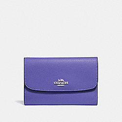 COACH F30204 Medium Envelope Wallet SILVER/VIOLET