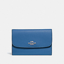 COACH F30204 Medium Envelope Wallet SKY BLUE/SILVER