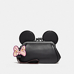 KISSLOCK WRISTLET WITH MINNIE MOUSE EARS - f30212 - ANTIQUE NICKEL/BLACK