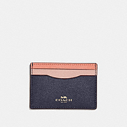 COACH F30218 Card Case In Colorblock SUNRISE MULTI/LIGHT GOLD