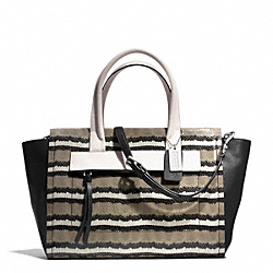COACH F30223 Bleecker Pinnacle Python Embossed Riley Carryall SILVER/CORIANDER