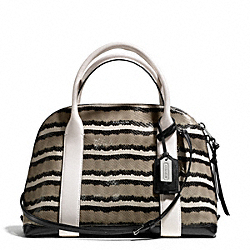COACH F30224 Bleecker Python Embossed Pinnacle Preston Satchel SILVER/CORIANDER