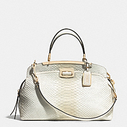 MADISON PINNACLE ANDIE SHOULDER BAG IN PYTHON EMBOSSED DEGRADE LEATHER - f30235 -  LIGHT GOLD/WHITE IVORY
