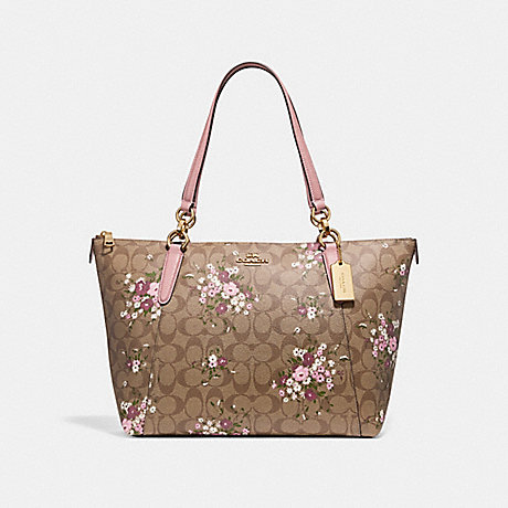 57c1031f51 COACH F30247 - AVA TOTE IN SIGNATURE CANVAS WITH FLORAL BUNDLE PRINT ...