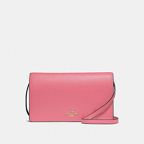 4ee851054034 COACH F30256 - FOLDOVER CROSSBODY CLUTCH - PEONY LIGHT GOLD
