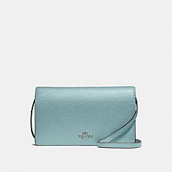 HAYDEN FOLDOVER CROSSBODY CLUTCH - F30256 - CLOUD/SILVER