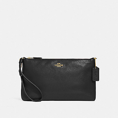 COACH F30257 LARGE WRISTLET 25 BLACK/LIGHT-GOLD