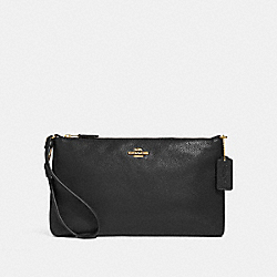 COACH F30257 Large Wristlet 25 BLACK/IMITATION GOLD