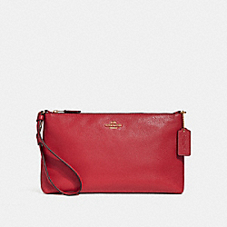 COACH F30257 - LARGE WRISTLET 25 TRUE RED/LIGHT GOLD