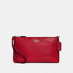 COACH F30257 - LARGE WRISTLET 25 BRIGHT CARDINAL/SILVER