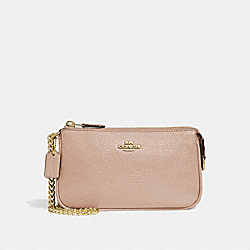 COACH F30258 Large Wristlet 19 NUDE PINK/IMITATION GOLD
