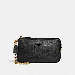 COACH F30258 - LARGE WRISTLET 19 BLACK/LIGHT GOLD