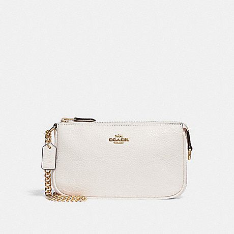 COACH F30258 LARGE WRISTLET 19 CHALK/LIGHT-GOLD