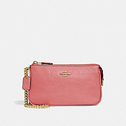 COACH F30258 Large Wristlet 19 ROSE PETAL/IMITATION GOLD