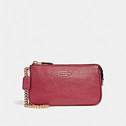 COACH F30258 - LARGE WRISTLET 19 TRUE RED/LIGHT GOLD