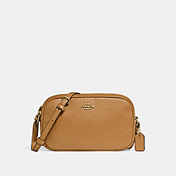 CROSSBODY POUCH - f30259 - LIGHT SADDLE/light gold