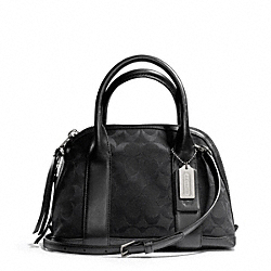 COACH F30268 Bleecker Signature Mini Preston Satchel SILVER/BLACK/BLACK