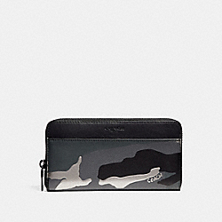 ACCORDION WALLET WITH METALLIC CAMO PRINT - f30280 - GREY MULTI