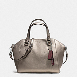 COACH F30281 - PARK LEATHER MINI SATCHEL SILVER/PEWTER