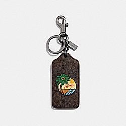 COACH F30287 - SIGNATURE PALM TREE BAG CHARM MAHOGANY/BLACK