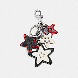 COACH F30315 Americana Multi Star Bag Charm MULTI/SILVER