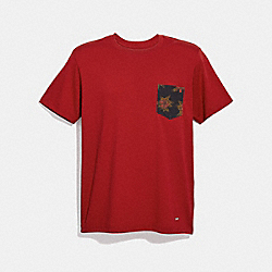 GRAPHIC T-SHIRT - f30332 - RED