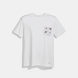 COACH F30332 Graphic T-shirt WHITE
