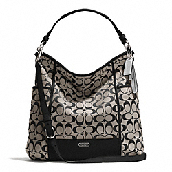 COACH F30341 - PARK SIGNATURE HOBO SILVER/BLACK/WHITE/BLACK